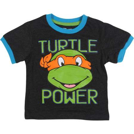 Teenage Mutant Ninja Turtles Toddler Boys' Turtles Tee Shirt, Grey thumb