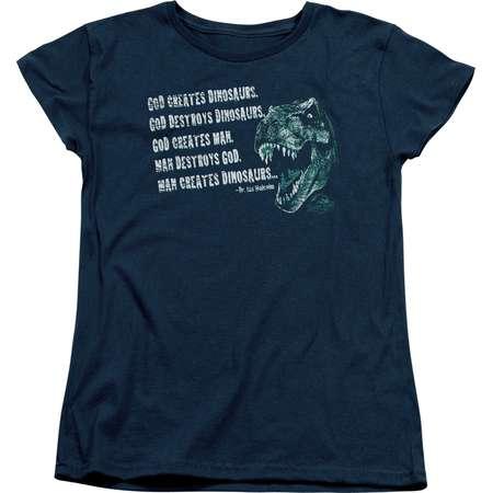 Jurassic Park Action Movie Spielberg God Creates Dinosaurs Women's T-Shirt Tee thumb