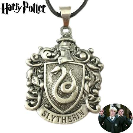 Harry Potter Necklace Pendant - Slytherin Crest - Movies Books Cosplay Jewelry by Superheroes thumb
