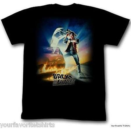 Back To The Future Vintage Movie Poster Adult T-Shirt thumb