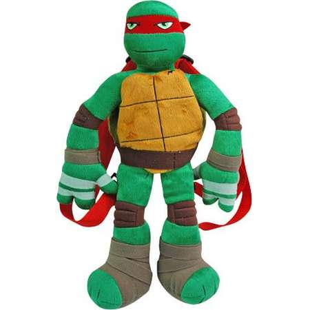 Plush Backpack - Teenage Mutant Ninja Turtles - Raphael Red TMNT 086101 thumb