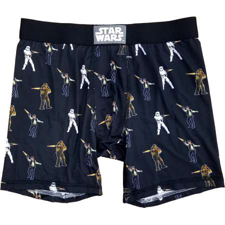 Star Wars Mens Black Han Solo Chewbacca Stormtrooper Boxer Briefs thumb