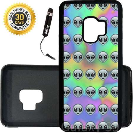 Custom Galaxy S9 Case (Tie Dye Pastel Alien Pattern) Edge-to-Edge Rubber Black Cover Ultra Slim | Lightweight | Includes Stylus Pen by Innosub thumb