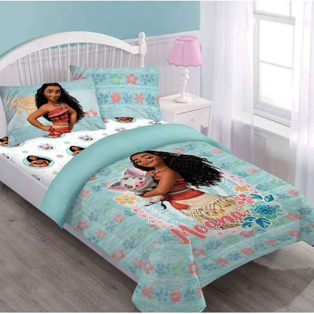 Full Moana Disney BED IN A BAG Comforter Set W/Fitted Sheet And Pillowcases thumb