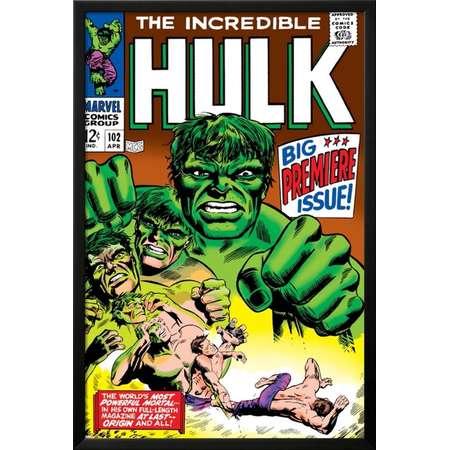 Marvel Comics Retro: The Incredible Hulk Comic Book Cov... Lamina Framed thumb