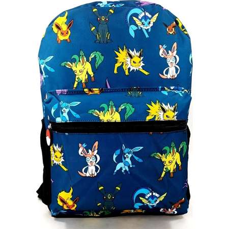 Nintendo Pokemon Dark Blue Evee Boy's Allover Print 16 School Backpack thumb