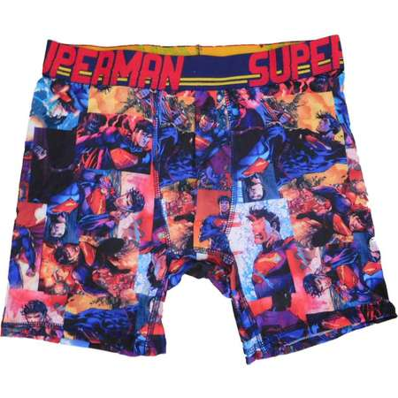 DC Comics Mens Blue Superman Graphic Art Boxer Briefs thumb