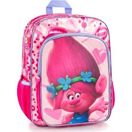 Trolls backpack school bag poppy - dreamworks, for girls, 16 inch with adjustable back straps pink thumb
