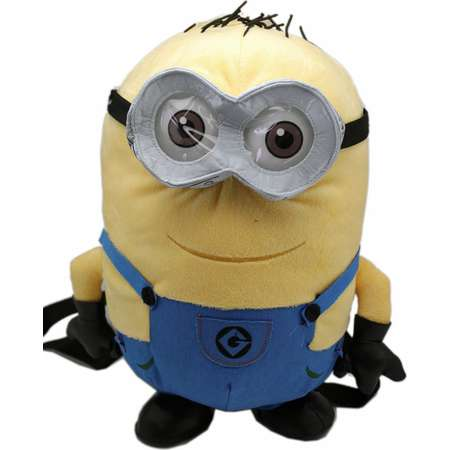 Despicable Me 2 Bob the Minion Plush Backpack (13in) thumb
