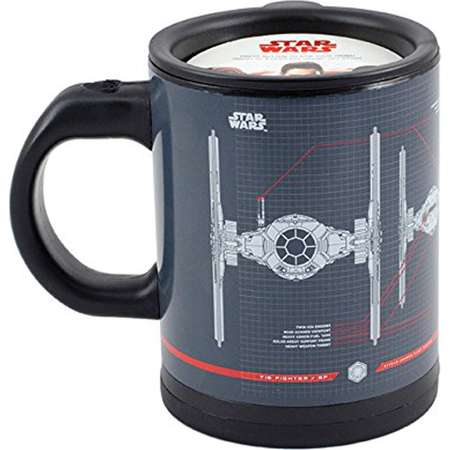 Star Wars Tie Fighter Self-Stirring Travel Mug - Mix Your Drink with the Force -12 oz thumb
