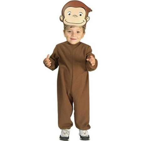 Infant Curious George Costume Rubies 885403, 6-18mo thumb
