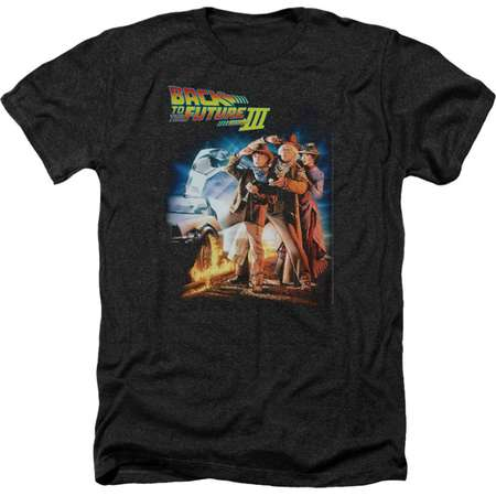 Back To The Future Sci-Fi Comedy Movie Poster Adult Heather T-Shirt Tee thumb