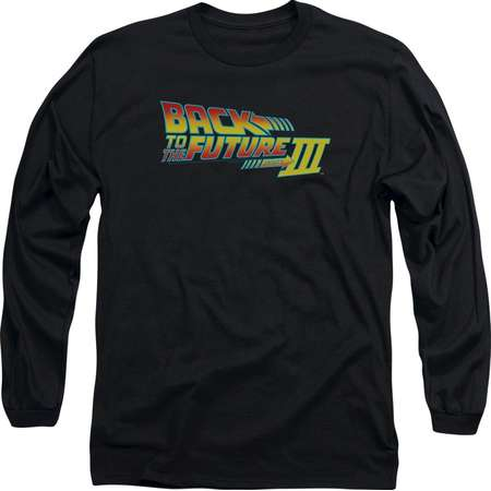 Back To The Future III Science Fiction Movie Logo Adult Long Sleeve T-Shirt thumb