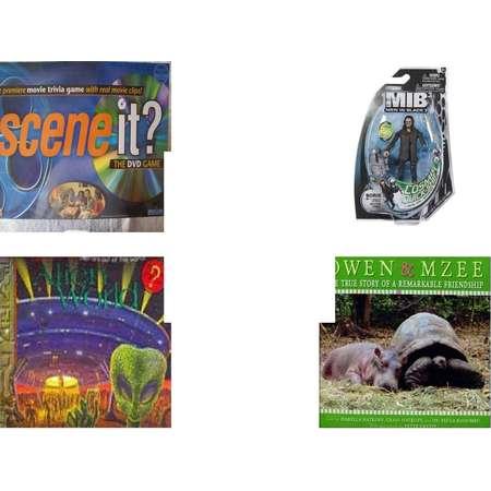 """Children's Gift Bundle [5 Piece] -  Scene it?  Edition DVD  - Men In Black 3 Boris & Jetpack Figure  - Sleeping Beauty Prince Philip Bean Bag   9"""" - Alien World Pop-Ups  - Owen & Mzee: The True Stor thumb"""