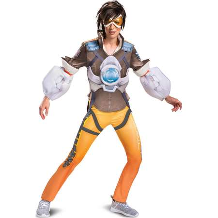 10d54cdcb8e Overwatch Tracer Women s Deluxe Adult Halloween Costume thumb