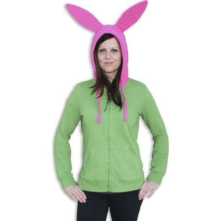 Bob's Burgers Louise Juniors Costume Zip Up Hoodie Sweatshirt thumb