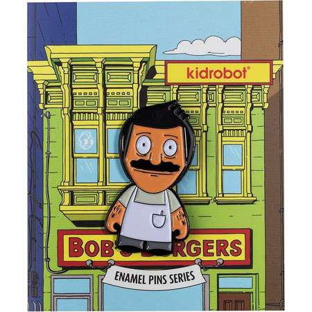 Kidrobot Bob's Burgers Enamel Pin Collection - Bob (2/20) thumb
