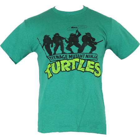 Teenage Mutant Ninja Turtles Mens T-Shirt - TMNT Smiling Group Silhoueete Image thumb