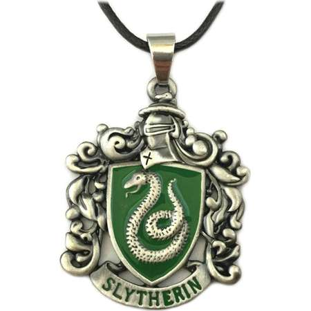 Harry Potter Slytherin House Crest Necklace w/Gift Box by Superheroes thumb