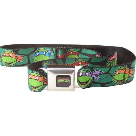 Teenage Mutant Ninja Turtles Shell Faces Seatbelt Belt-Holds Pants Up thumb