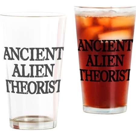 CafePress - Ancient Alien Theorist - Pint Glass, Drinking Glass, 16 oz. CafePress thumb