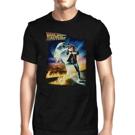 Back To The Future Marty McFly DeLorean Time Travel Men's T-Shirt - Black thumb