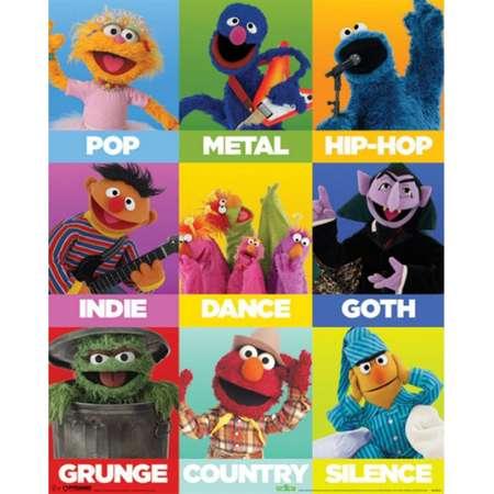 Sesame Street - Music Genres Poster Poster Print thumb