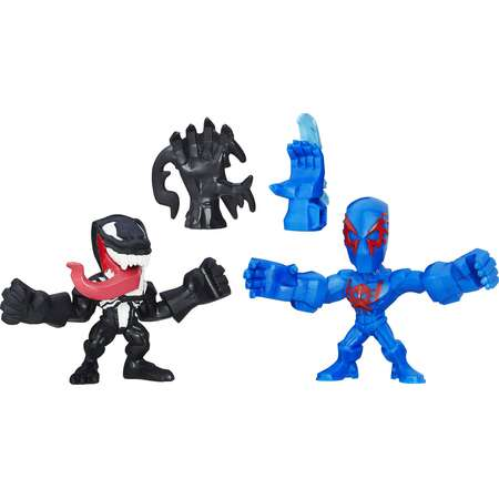 Marvel Super Hero Mashers Micro Spider-Man 2099 and Venom Action Figures, 2 Pack thumb