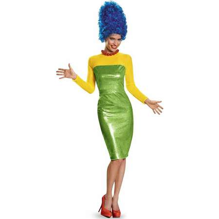The Simpsons Marge Deluxe Women's Adult Halloween Costume thumb