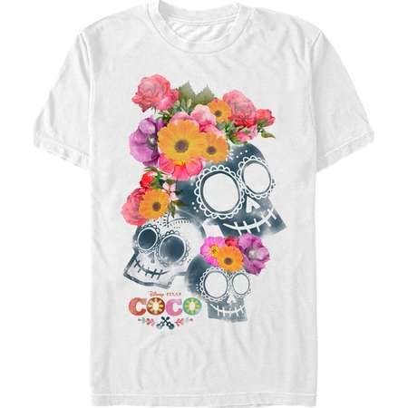 Coco Men's Floral Skeletons T-Shirt thumb