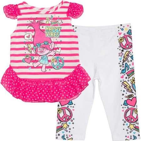 Trolls Toddler Girl Flutter Sleeve Tunic & Legging 2pc Outfit Set thumb