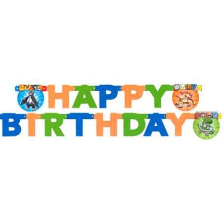 Pokemon 'Diamond and Pearl' Small Happy Birthday Banner (1ct) thumb