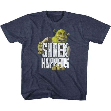 Shrek Movie Happens Navy Heather Youth Big Boys T-Shirt Tee thumb