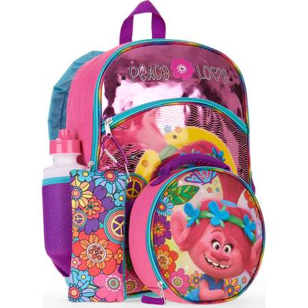 Trolls 5-Piece Backpack Set With Lunch Bag thumb