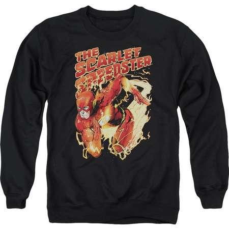 The Flash DC Comics Superhero The Scarlet Speedster Adult Crewneck Sweatshirt thumb