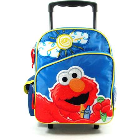 "Small 12"" Rolling Backpack - Sesame Street - Elmo - Big Sun thumb"