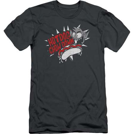 Trevco TEEN TITANS GO HOT DOG Charcoal Adult Unisex T-Shirt thumb