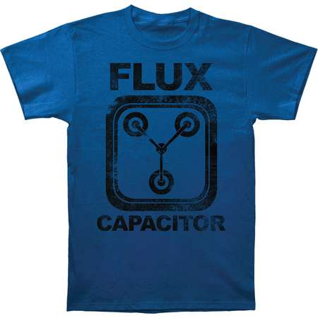 Back To The Future Men's  Flux Capacitor Slim Fit T-shirt Blue thumb