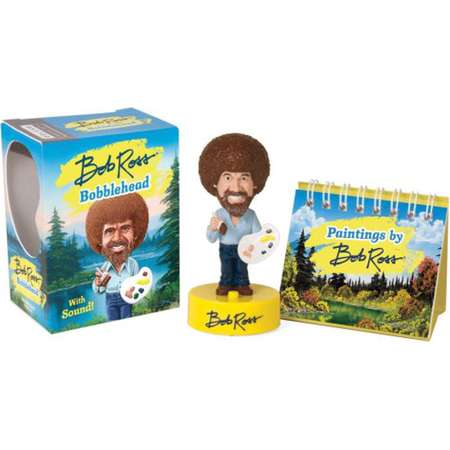 Bob Ross Bobblehead: With Sound! [With Book] ( Miniature Editions ) thumb