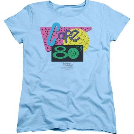 Back To The Future II Cafe 80's Womens Short Sleeve Shirt thumb