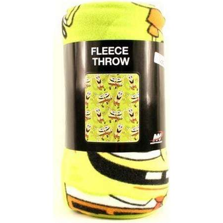 Officially Licensed Sponge Bob Square Repeater 50x60 Character Fleece thumb