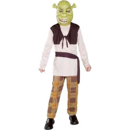 Shrek The Third Boys Halloween Costume Mask, Shirt with Vest, Pants, Sash thumb