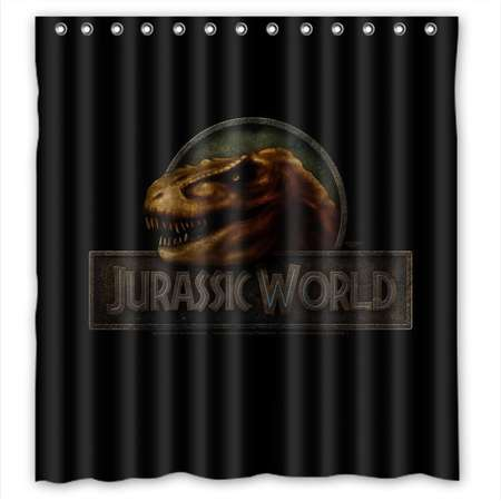 DEYOU Jurassic Park 15 Design Shower Curtain Polyester Fabric Bathroom Shower Curtain Size 66x72 inches thumb