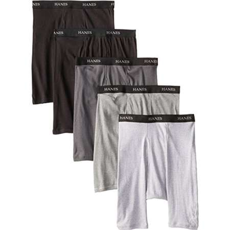 Hanes Men's Tagless Ultimate Long Leg Boxer Briefs with Comfort Flex Waistband (5-Pack) thumb