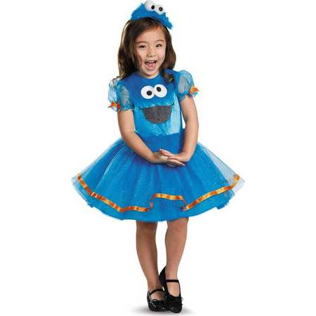 Sesame Street Cookie Monster Tutu Deluxe Toddler Halloween Costume thumb