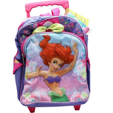 "Disney's The Little Mermaid Ariel Purple and Pink Colored Rolling Kids 12"" Backpack by S Shop thumb"