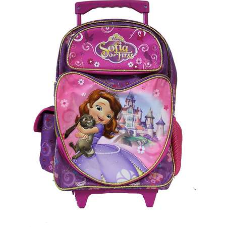 Full Size Purple Bunny Hug Sofia the First Rolling Backpack by S Shop thumb