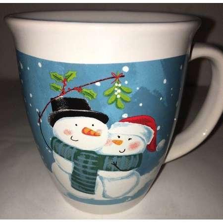 Holiday Christmas Mug 14oz Snowman/Lady Coffee Tee Hot CoCo Cup Mug-SHIPS N 24HR thumb