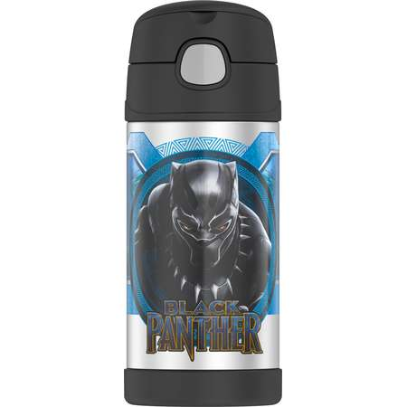 Thermos Funtainer Vacuum Insulated Stainless Steel Bottle (12 oz/ Black Panther) thumb