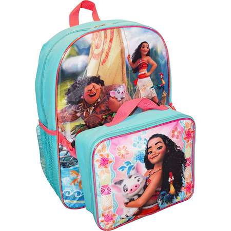 "Girls Disney Moana Backpack 16"" & Detachable Lunch Bag thumb"